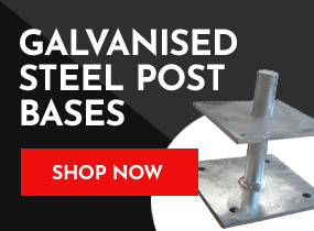 Galvanised steel post bases