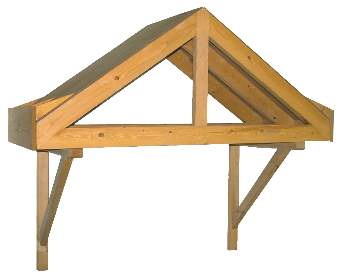 Period dual pitch timber door canopy 1690mm wide, 700mm projection- F-Ashworth 35 degrees