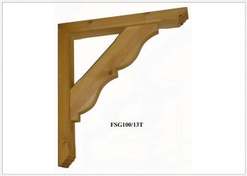 Timber Gallows Bracket 700mm projection SWL 163kg F-SG100-13-T