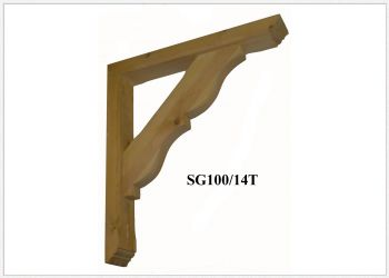 Timber Gallows Bracket 550mm projection SWL 117kg- F-SG100-14-T