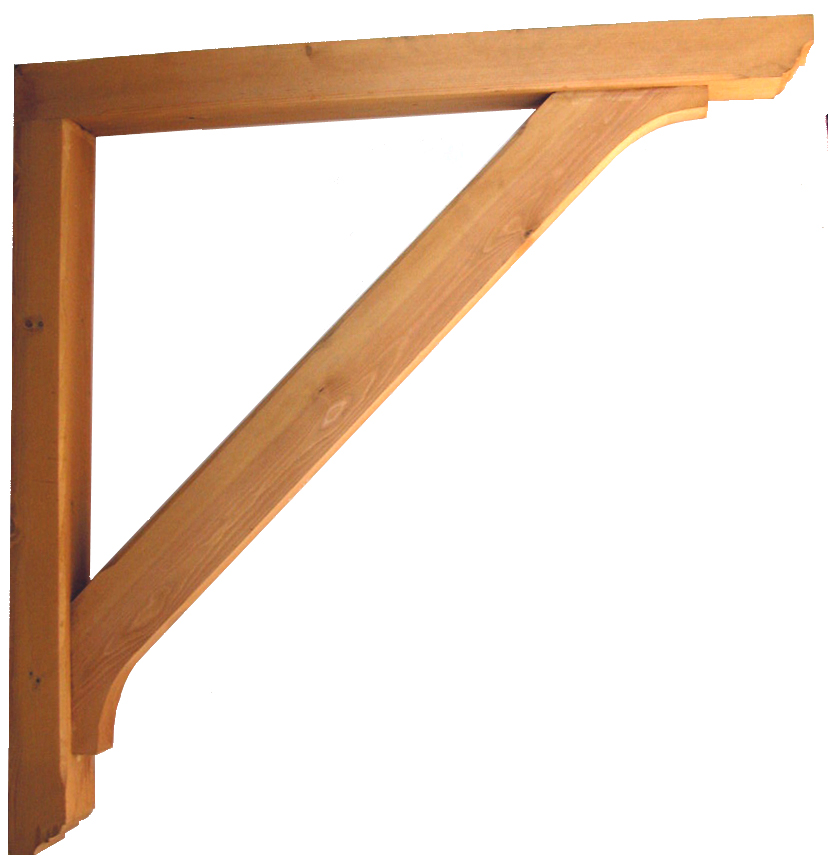 Heavy DutyTimber Gallows Bracket 1200mm Projection Code - F-SG125-13-T - Wooden Gallows Bracket