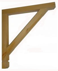Timber Gallows Bracket 750mm projection SWL 296kg F-SG32-T