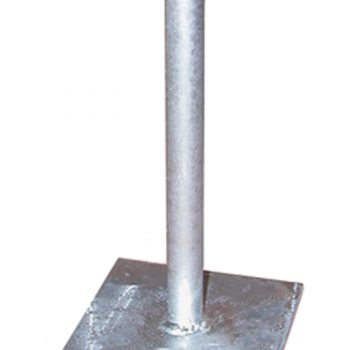 Galvanised Steel Flanged Pin 360mm high to recieve post size 150mm x 150mm GSF-PIN5