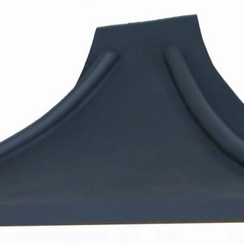 Georgian lead look curved Bay window roof/ canopy- F-GLLC-SQ-B-R
