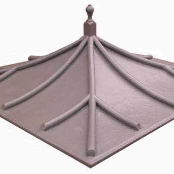 Lead look Georgian curved low pitch bin roof/cycle shelter- GLL-BIN-Store-R