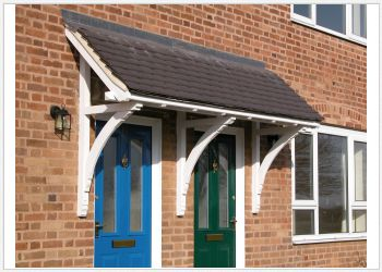 Mono Pitch Timber Moorland Door Canopies 2000mm to 2500mm wide, projection 750mm Code - F-M3