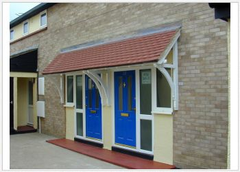 Mono Pitch Timber Moorland Door Canopies 2500mm to 3000mm wide, 750mm projection Code - F-M4