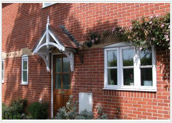 Holcombe period dual pitch timber door canopy, 1340mm wide, 500mm projection Code - F-PCS-H1
