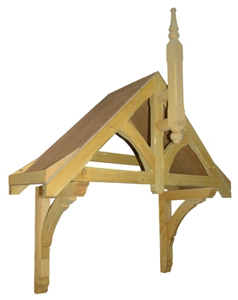 Rivington period Dual pitch timber door canopy, 1870mm wide, 700mm projection- F-PCS-R2Mk2
