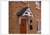Rivington period dual pitch timber door canopy 2200mm wide, 600mm projection- F-PCS-R4
