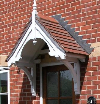 Walmersley period dual pitch timber door canopy, 2195mm wide, 700mm projection- F-PCS-W2 - Dual Pitch Wooden Door Canopy