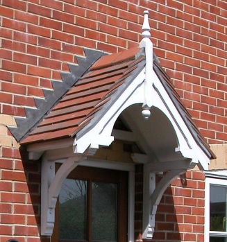 Walmersley period dual pitch timber door canopy, 1510mm wide, 505mm projection- F-PCS-W3 - Dual Pitch Wooden Door Canopy