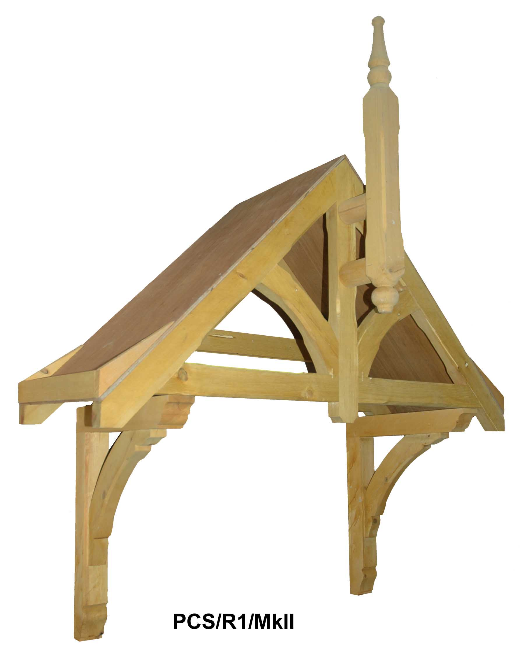 Rivington period Dual pitch timber door canopy 1340mm wide, 505mm projection- Code -F-PCS-R1Mk2