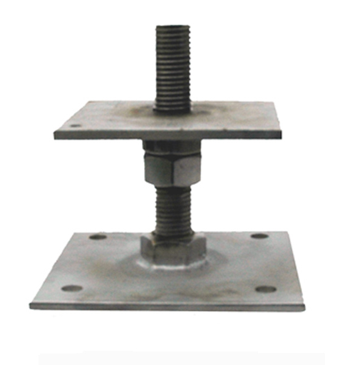 Stainless Steel adjustable post base 150mm high, post plate size 123mm x 123mm- SSB1P2