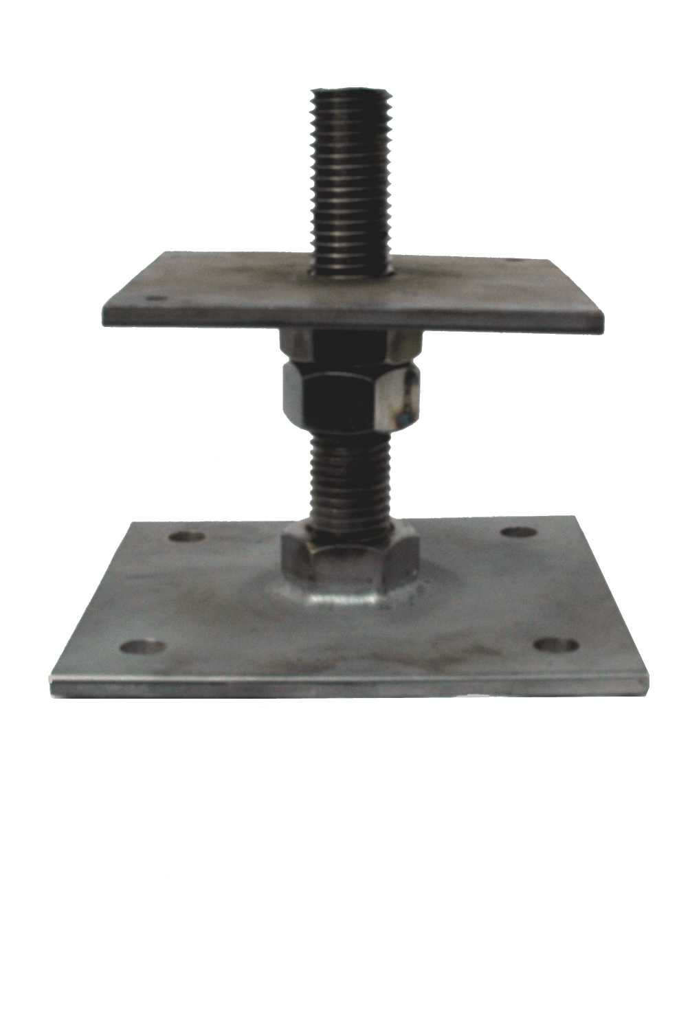 Stainless Steel adjustable post base, 150mm high, post plate size 150mm x 150mm SSB1P3