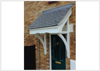 Mono Pitch Timber Swakley Door Canopies 1280mm to 1500mm wide, 750mm projection Code - F-SW1