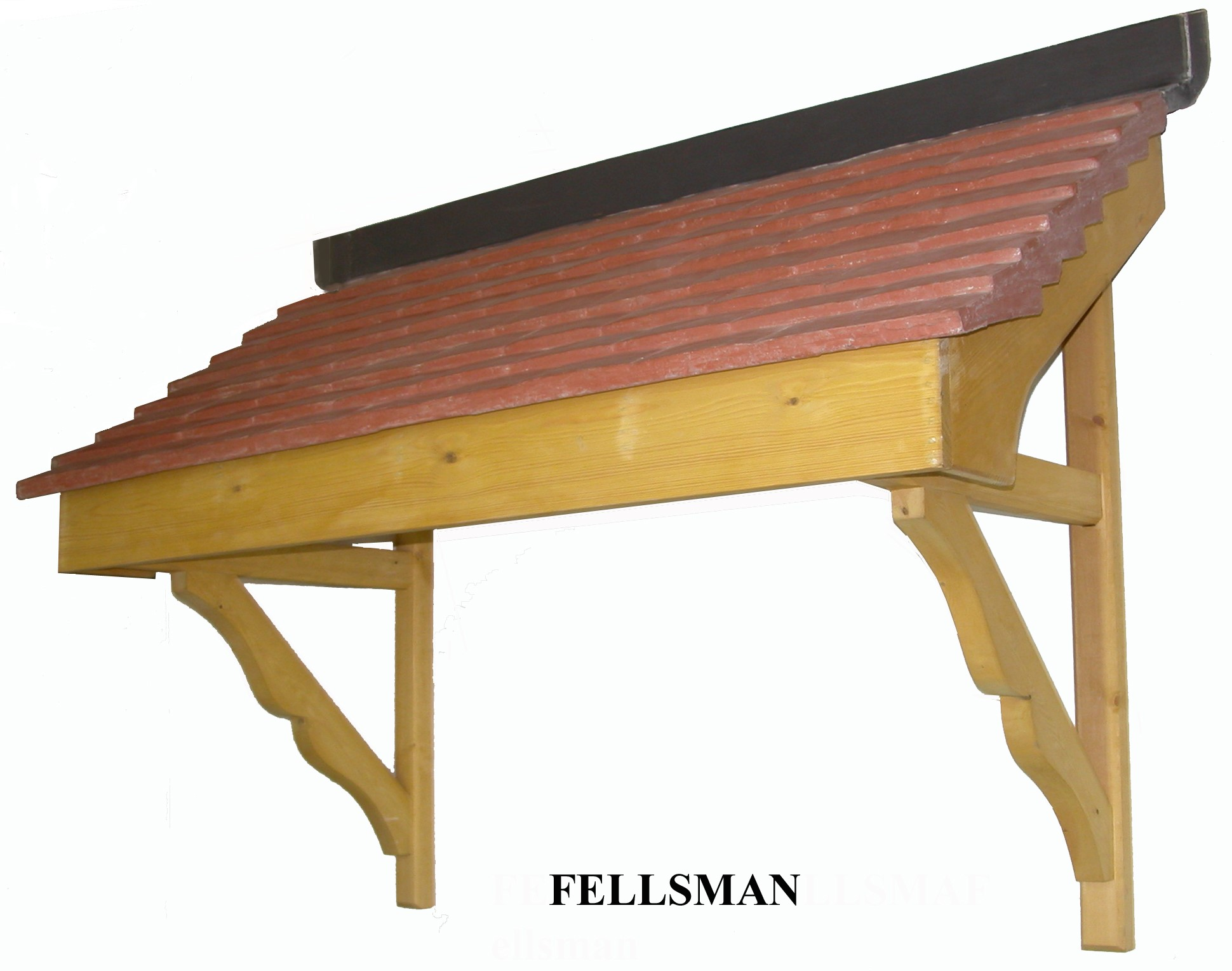 Fellsman mono pitch Durotile roof timber door canopy 1690mm wide, 730mm projection F- FELL-C-S