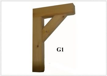 Timber Gallows Bracket 300mm Projection SWL 187kg- F-G1