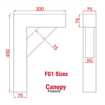Timber Gallows Bracket 600mm projection SWL 193kg F-GS7