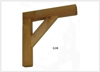 Timber Gallows Bracket 450mm Projection SWL111kg - F-G10 - Wooden Gallows Bracket