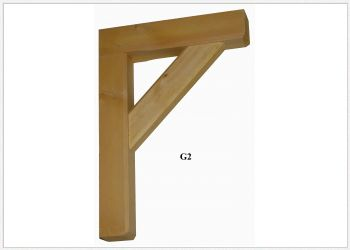 Timber Gallows Bracket 350mm Projection SWL199kg - F-G2
