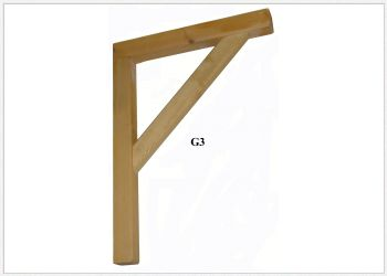 Timber Gallows Bracket 750mm Projection SWL157kg - F-G3