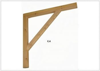 Timber Gallows Bracket 900mm Projection SWL -186kg - F-G4