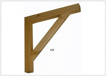 Timber Gallows Bracket 600mm Projection SWL 150kg - F-G5