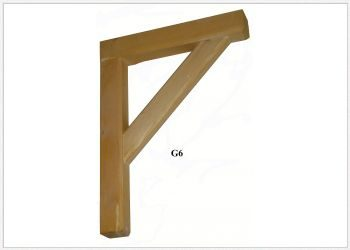 Timber Gallows Bracket 450mm Projection SWL150kg - F-G6