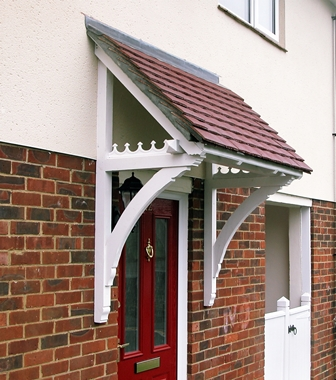 Mono Pitch Timber Moorland Door Canopies 1500mm to 2000mm wide, 750mm projection Code - F- M2