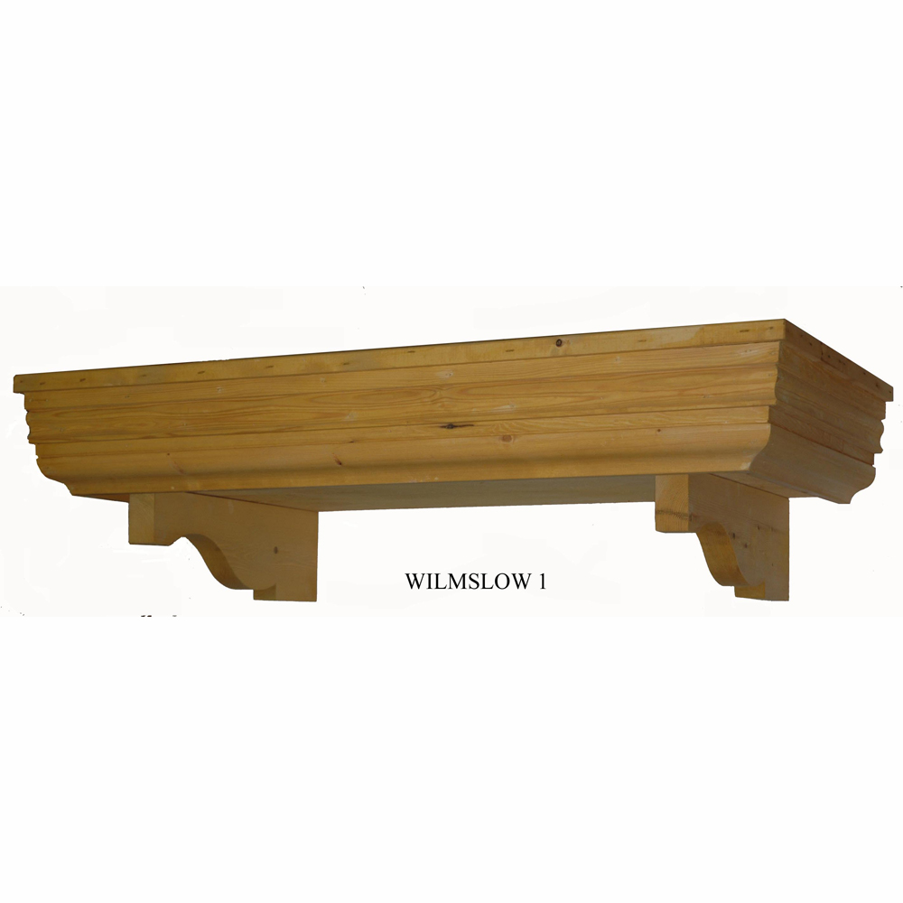 Flat Wilmslow Timber Door Canopies  1470mm wide 690mm projection W1-Code -F-W1